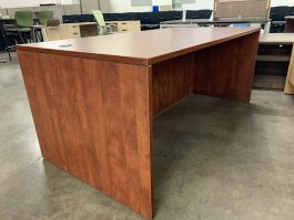 Display Cherry Straight Desk