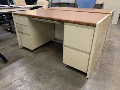 Steelcase Double Pedestal Desk