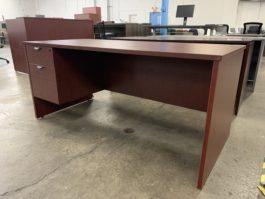 Cherry Single Desk