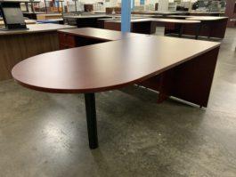Cherry Bullet Top L Desk