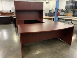 Bow Front Cherry U Desk