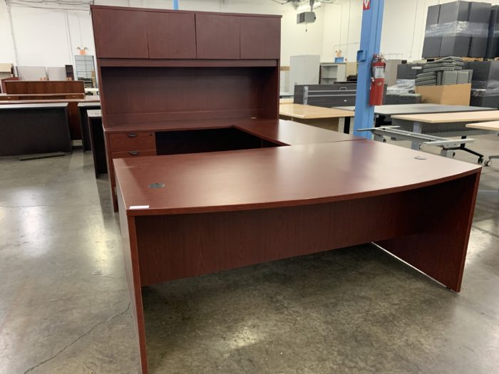 Bow Front Cherry U Desk