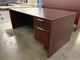 Mahogany Bow Front Desk
