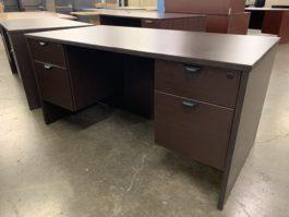Espresso Double Pedestal Desk