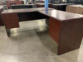 Used Mahogany L Desk