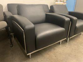 Black Reception Guest Chair