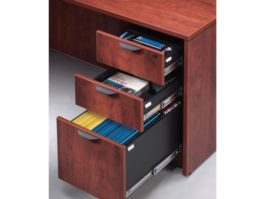 3 Drawer Mobile File Cabinet Cherry