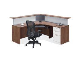 Reception Desk Typical - Modern Walnut